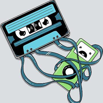 Das Comeback | Retro Musik Kassette gegen iPod von BootsBoots