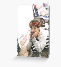Park Jimin (BTS) - Flower Crown Greeting Card