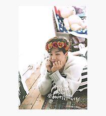 Park Jimin (BTS) - Flower Crown Photographic Print