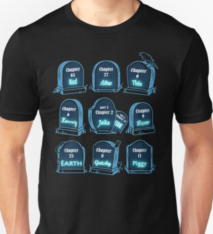 Spoiler Graveyard   Literary Characters Who Die in their Books T-Shirt