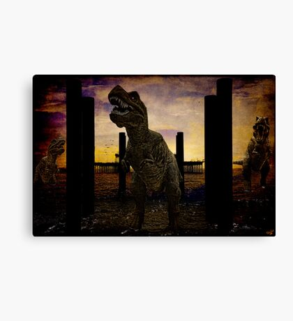 There's Probably No Bathing In Brighton Today Canvas Print
