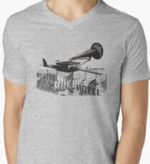 in the aeroplane over the sea Men's V-Neck T-Shirt