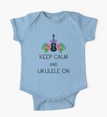 Keep Calm and Ukulele On Kids Clothes