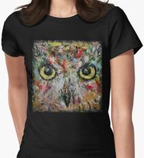 Mystic Owl Womens Fitted T-Shirt