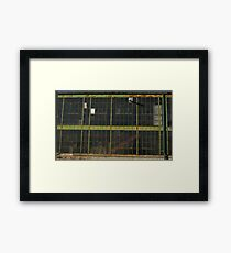 Green Windows Red Stairs 3613 Framed Print