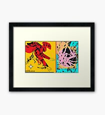 catching fire in midstream  Framed Print