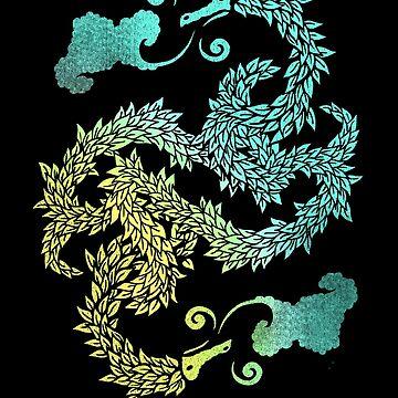 Dragons Blow | Chinese Dragon Yin Yang by BootsBoots