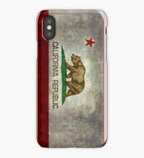 California Republic state flag - Vintage retro version iPhone Case/Skin