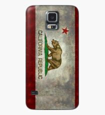 California Republic state flag - Vintage retro version Case/Skin for Samsung Galaxy