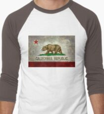 California Republic state flag - Vintage retro version Men's Baseball ¾ T-Shirt