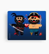 NINJA LOVES PIRATE Canvas Print