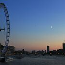 London Eye, Big Ben and Westminster Bridge, London by 3rdeyelens