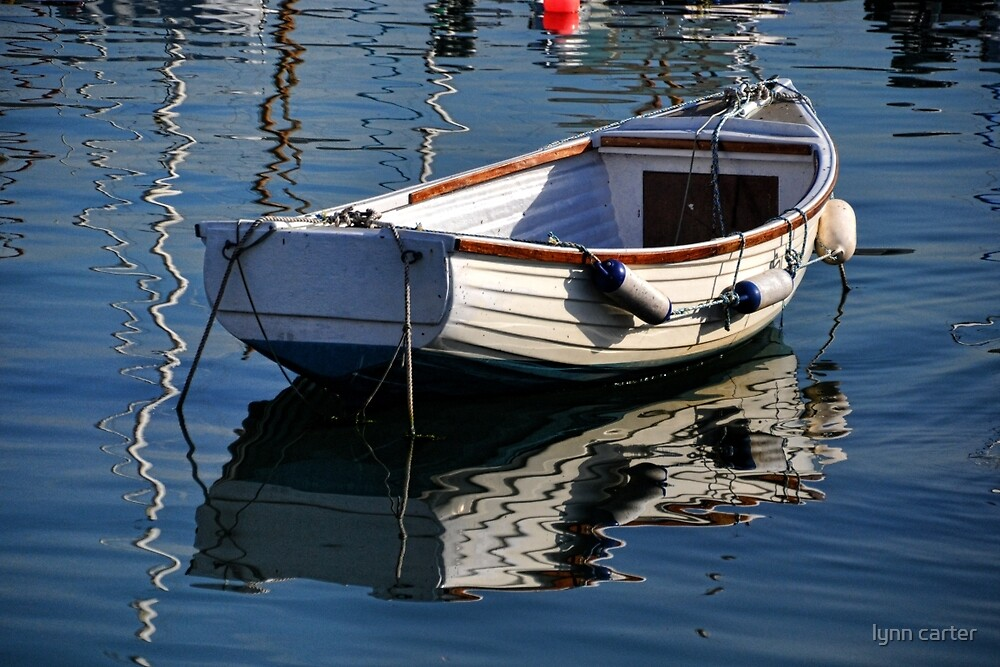 Reflected Rowboat by lynn carter