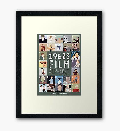 1960s Film Alphabet Framed Print