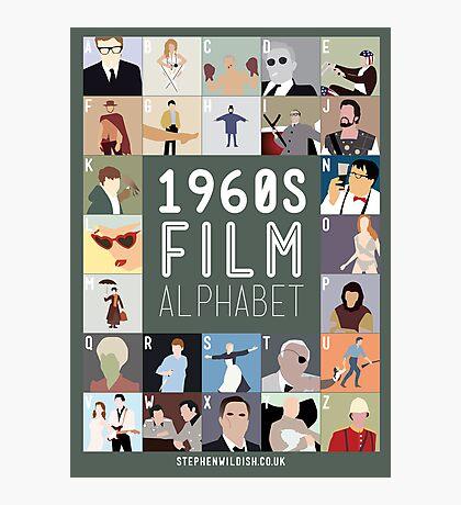 1960s Film Alphabet Photographic Print