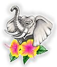 Lucky Elephant with Flower by EverIris