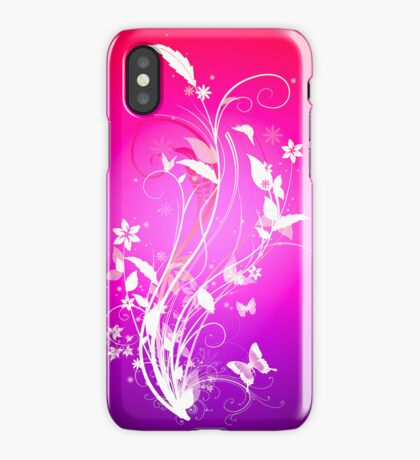 Bright butterfly iPhone Case