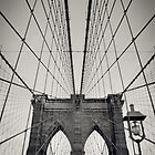 New York City, Brooklyn Bridge | B/W by thomasrichter