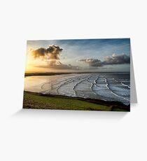 Saunton Sands North Devon Greeting Card