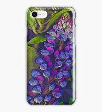 Blue lupin iPhone Case/Skin