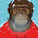 Chimpanzees winter. by Rif Khasanov