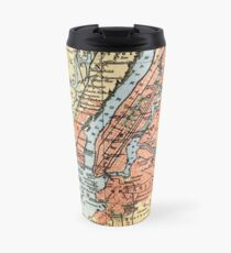Taza de viaje Vintage Map of The New York City Vicinity (1890)