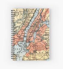 Cuaderno de espiral Vintage Map of The New York City Vicinity (1890)
