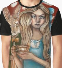 Alice and the March Hare Graphic T-Shirt