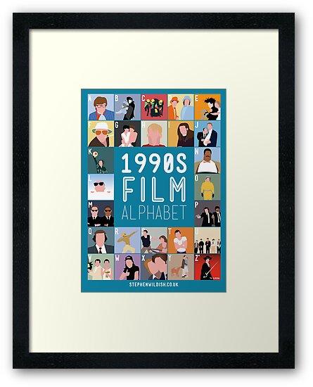 1990's Film Alphabet by Stephen Wildish