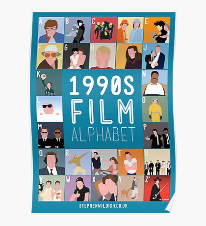 1990's Film Alphabet Poster