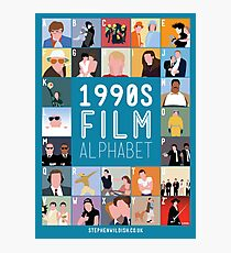 1990's Film Alphabet Photographic Print