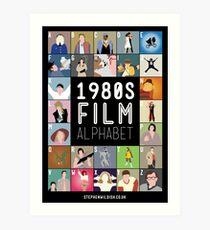 1980's Film Alphabet Art Print