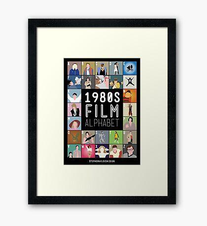 1980's Film Alphabet Framed Print