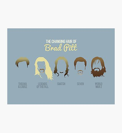 The changing hair of Brad Pitt Photographic Print