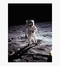 Buzz Aldrin on the Moon Photographic Print