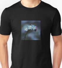 You are loved. Forget-me-nots macro. Unisex T-Shirt