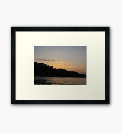 Clouds over Bulff Horizon Framed Print