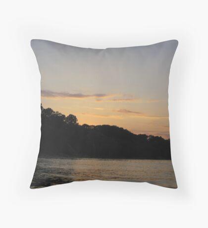 Clouds over Bulff Horizon Throw Pillow