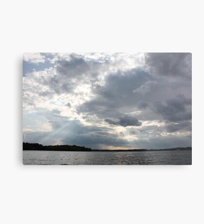 Clouds Over Lake  Metal Print