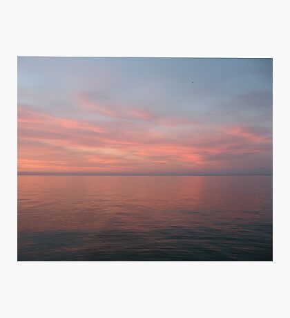 Pink Clouds over Lake Michigan  Photographic Print