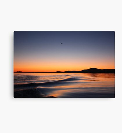 Sunset on Lake Wisconsin Canvas Print