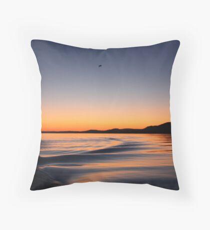 Sunset on Lake Wisconsin Throw Pillow
