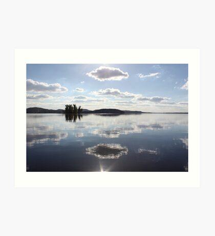 Mirror Clouds on Lake Wisconsin Art Print