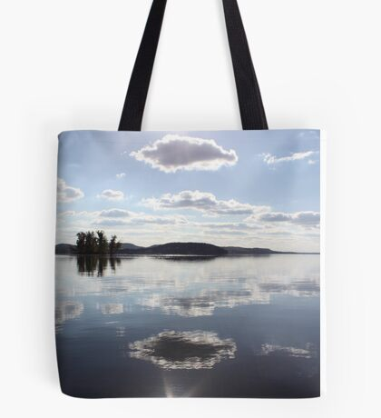 Mirror Clouds on Lake Wisconsin Tote Bag
