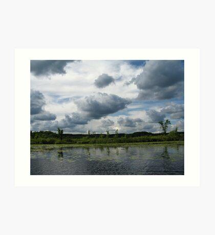 Majestic Clouds over Lake Art Print