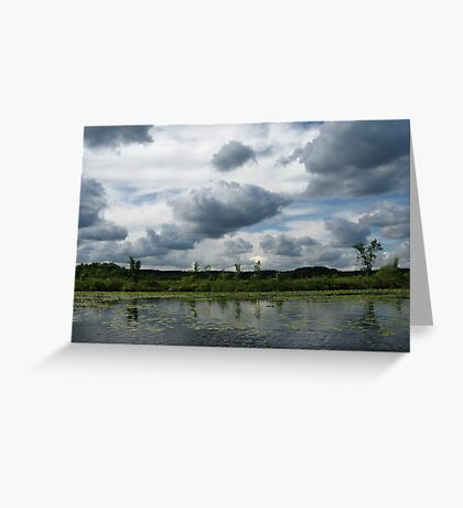 Majestic Clouds over Lake Greeting Card