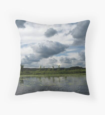 Majestic Clouds over Lake Throw Pillow