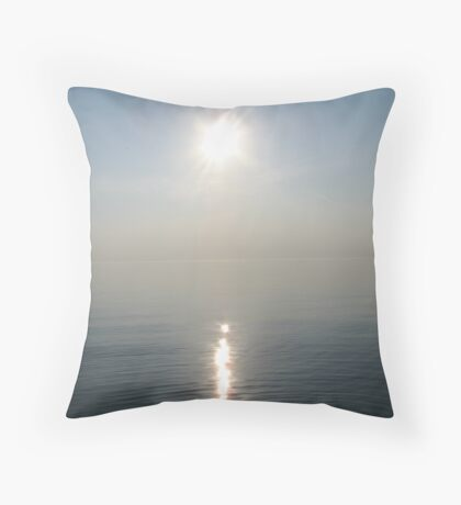 Sun Ray over Lake Michigan Throw Pillow