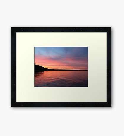 Beautiful Sunset on Lake Michigan  Framed Print