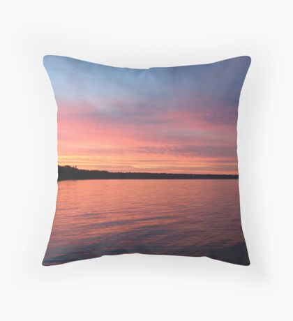 Beautiful Sunset on Lake Michigan  Throw Pillow